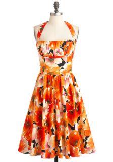 Bernie Dexter Yours Always Dress in Poppies  Mod Retro Vintage Dresses