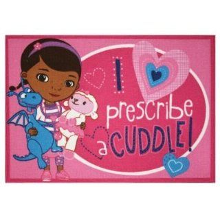 "Doc Mcstuffins ""Prescribe Cuddles"" Area Rug   44"" By 31.5""   Childrens Rugs"