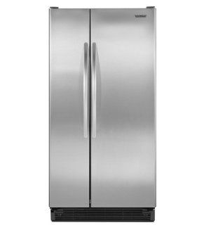 Kitchenaid KSRS22MWMS 32 3/4 Inch, 21.7 Cu. Ft. Standard Depth Side by Side Refrigerator: Appliances