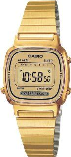 Casio LA 670WEGA 9EF Ladies Collection Gold Watch: Watches