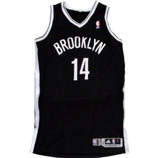 Shaun Livingston Jersey   Brooklyn Nets 2013 2014 Home Opener Game Used #14 Black and White Jersey (11/1/2013 vs. Miami) (L) (BKN00023) at 's Sports Collectibles Store