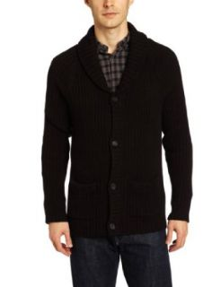 Calvin Klein Jeans Men's Rib Shawl Cardigan, Black, Large at  Men�s Clothing store: Cardigan Sweaters
