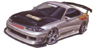 1/24 Top Secret S15 Silvia (Model Car) Aoshima S Package Ver.RNo.95: Toys & Games