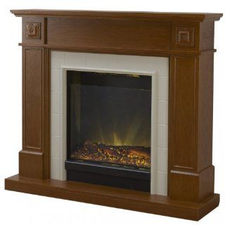 Adam Chester Electric Fireplace Mantel Package in Vintage Oak   Gel Fuel Fireplaces