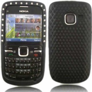 Gem Silicone Case Cover Skin For Nokia C3 / Black: Cell Phones & Accessories