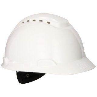 3M Hard Hat H 701V UV, UVicator Sensor, Vented, 4 Point Ratchet Suspension, White Hardhats Industrial & Scientific