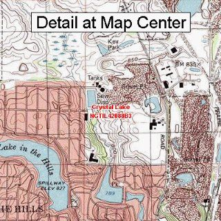 USGS Topographic Quadrangle Map   Crystal Lake, Illinois (Folded/Waterproof)  Outdoor Recreation Topographic Maps  Sports & Outdoors