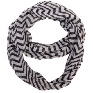 Cotton Cantina Soft Chevron Sheer Infinity Scarf (Pink/Gray/White) at  Women�s Clothing store