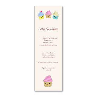 Cute Kawaii Cupcakes in Pastel Colors Business Card