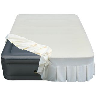 Altimair Altimair Raised 20 inch Queen size Airbed With Perfectly Fitted Skirted Sheet Cover Grey Size Queen