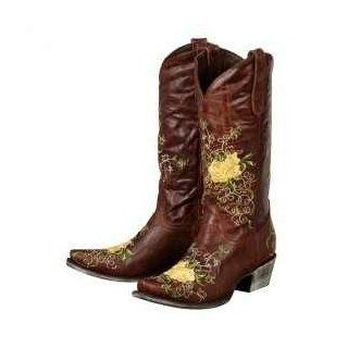 Lane Boots Brandy Chocolate Leather Fashion Cowgirl Boots: Shoes
