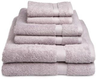 Pike Street 100 Percent Egyptian Cotton 725 Gram 6 Piece Towel Set, Heather