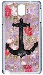Samsung Galaxy Note 3 N9000 hard Case Vintage Anchor Purple Pink Floral Pattern protective back cover by cutomizedonline Cell Phones & Accessories