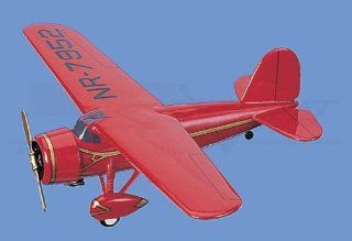 "Lockheed� Vega of Amelia Earhart ""Little Red Bus"" Airplane Model Toy. Mahogany Wood Model Aircraft Scale 1/28 Toys & Games"