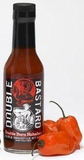 Hot Sauce, Habanero, Stone Brewing Co. Double Bastard Ale: Double Burn Haba�ero, 5oz. Glass Jar. : Grocery & Gourmet Food