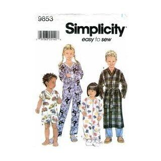 Simplicity 9853 Toddlers' & Child's Loungewear Size AA (1/2, 1, 2)
