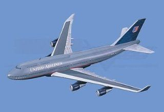 Boeing 747 400,� United Airlines Aircraft Model Mahogany Display Model / Toy. Scale 1/75 Toys & Games