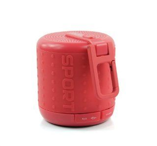 Doss DS1208 Hurricane Sport Mini Handsfree Portable Wireless Bluetooth TF Player Speakers (Red)   Players & Accessories