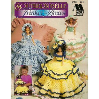 Annie's Attic Crochet Fashion Doll Southern Belle Trinket Boxes Books