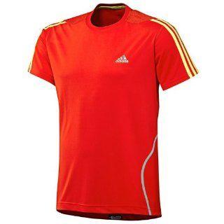 Adidas Response Mens Short Sleeve Running T Shirt Tee Top   Orange   XS  Sports & Outdoors