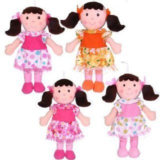 BB Toymaker 8365D Rag Doll with Piggy Tails Plush Toy   Pack of 4 Toys & Games