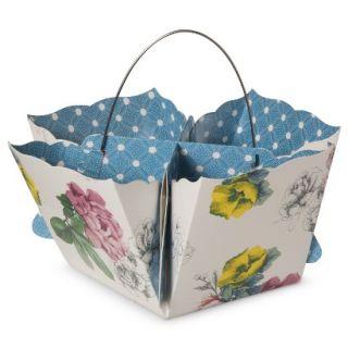 Poppytalk Paper Napkin and Condiment Carrier   Floral Print