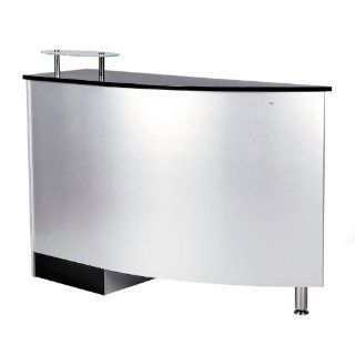 RECEPTION DESK CURVED DESIGN BEAUTY SALON SPA RECEPTION AREA COUNTER   ARGENTO : Beauty Products : Beauty