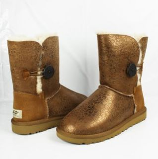 Metallic Chestnut Bailey Button Ugg Boots Womens Size 9 Shoes