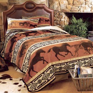 Horse Fever Fleece Blanket   King   Bed Blankets
