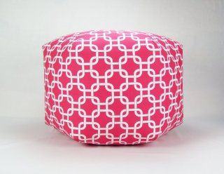 "Shop 24"" Floor Ottoman Pouf Pillow, Candy Pink and White Chain Link at the  Furniture Store"