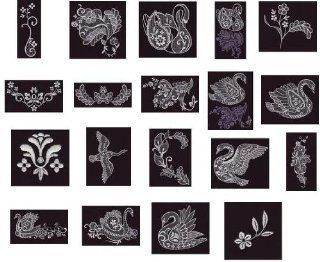 OESD Embroidery Machine Designs CD SWAN LACE