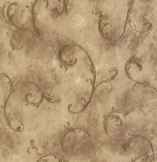 Mirage 981 63767 Scrolls and Damasks Ithaca Gold Scroll Wallpaper