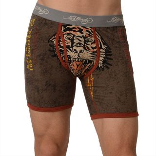 Ed Hardy Mens Charcoal Tigered For Life Premium Boxer Brief