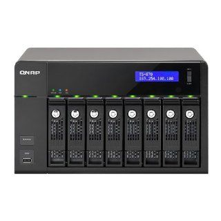 QNAP TS 870 8 Bay iSCSI NAS, SATA 6G, 4LAN, 10GbE ready, LCD: Computers & Accessories