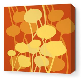 Inhabit Aequorea Seedling Graphic Art on Canvas in Rust SEDRTSW Size: 16 x 16