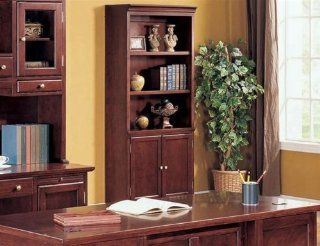 Rich Cherry Small Bookcase by Coaster Furniture   Coaster Bookcase Cherry Finish