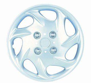 "White Knight WK 881B, Nissan Sedan, 14"" Silver/Lacquer Plastic Wheel Cover, Set of 4: Automotive"