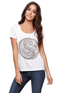 Womens Billabong Tees & Tanks   Billabong Yin Yang Life Crew T Shirt