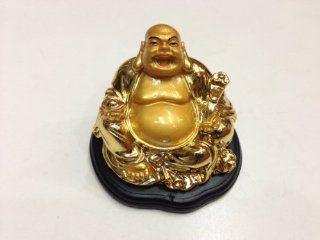 Feng Shui Money Lucky Laughing Buddha Statue Holding Ru Yi & Ingot   Happy Buddha