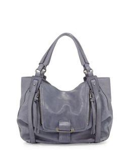 Jonnie Leather Hobo Bag, Ocean Blue   Kooba