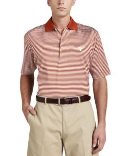 Mens University of Texas Longhorn Gameday Polo College Shirt, Striped   Peter