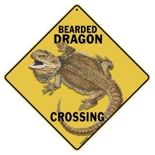 Bearded Dragon Crossing All Weather Sign : Yard Signs : Patio, Lawn & Garden