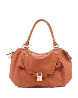 Daniela Turn Lock Satchel Bag, Cognac   V Couture by Kooba