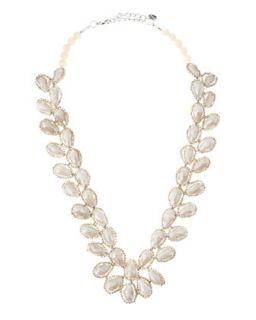 Petal Beaded Necklace, Bone   Nakamol