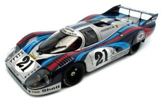 1971 Porsche 917 Long Tail Martini #21 Le Mans diecast model race car 1:18 scale die cast by AUTOart: Toys & Games