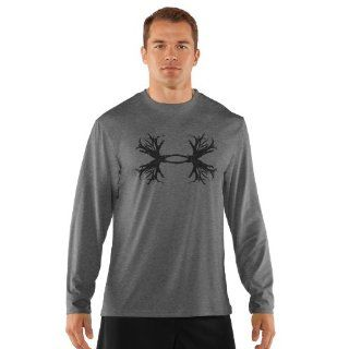 Under Armour Antler L/S Tee   UA Dealers Only Md Heatgear Gray: Sports & Outdoors