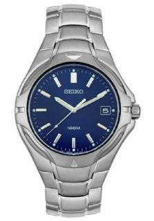 Seiko SGE507  Watches,Mens   Stainless Steel Blue Dial, Casual Seiko Quartz Watches