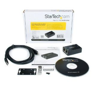 StarTech ICUSB2322RJ 2 Port Industrial USB to Serial RJ45 Adapter   Wallmount and DIN Rail   Black Computers & Accessories