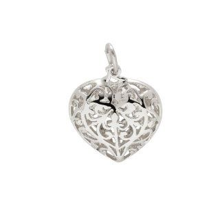 Rembrandt Charms, Filigree Heart, .925 Sterling Silver: Jewelry