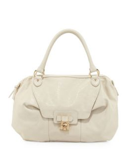 Daniela Turn Lock Satchel Bag, Bone   V Couture by Kooba